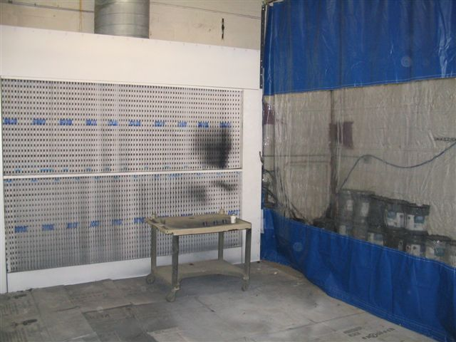 glidewall track and roller industrial curtains provide the maximum utility work station which combines high quality glidewall vinyl noise curtains