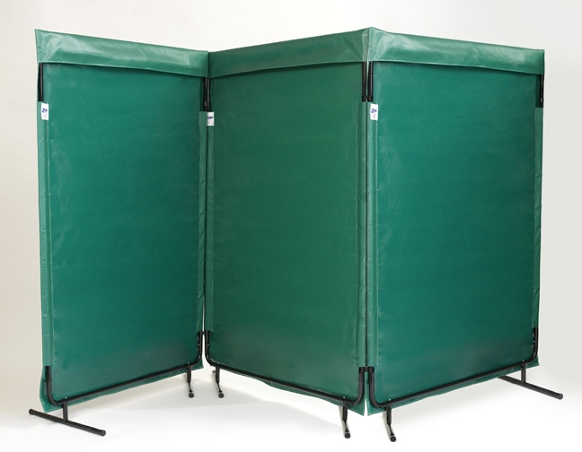 12' W x 6' H Green Multi Panel Screen